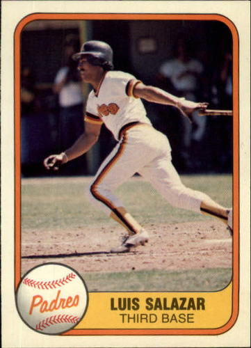 Photo of 1981 Fleer #501 Luis Salazar RC