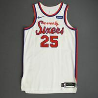 Ben Simmons - Philadelphia 76ers - Game-Worn Classic Edition 1970-71 Home Jersey - Triple-Double - 2019-20 Season
