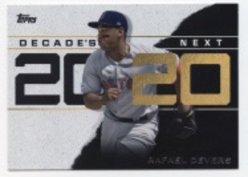 Photo of 2020 Topps Decade's Next #DN18 Rafael Devers