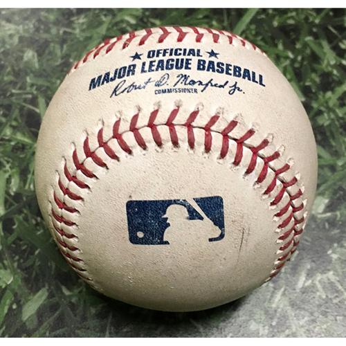 Photo of Game-Used Baseball COL@MIL 05/02/19 - Freddy Peralta - Nolan Arenado: Foul