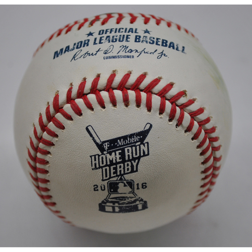 Photo of Game-Used Baseball - 2016 Home Run Derby - Robinson Cano - Round One - Out