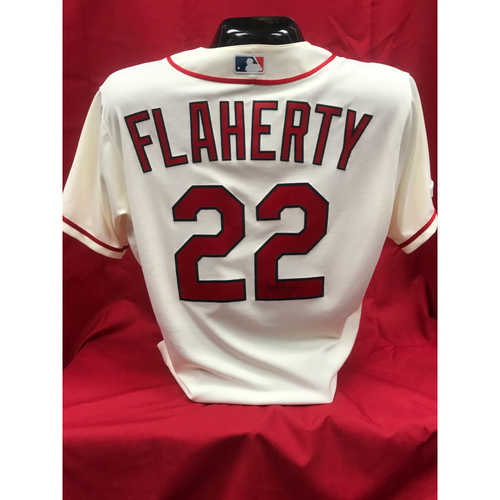 Photo of Jack Flaherty Autographed Team Issued Home Alternate Jersey (Size 46)