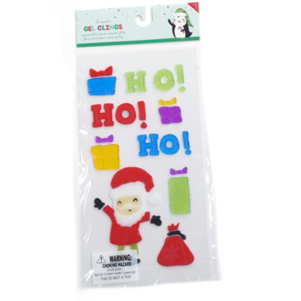 Photo of Impact Innovations Merry Christmas Santa Ho Ho Ho Window Gel Clings