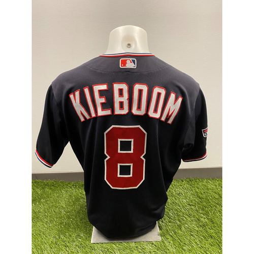 Photo of Carter Kieboom 2020 Game-Used World Series Champions Navy Script Jersey