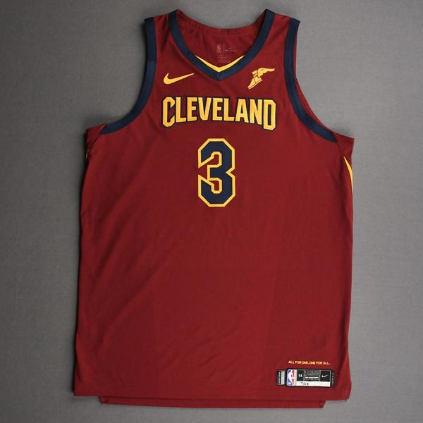 Image of Andre Drummond - Cleveland Cavaliers - Kia NBA Tip-Off 2020 - Game-Worn Icon Edition Jersey - Double-Double