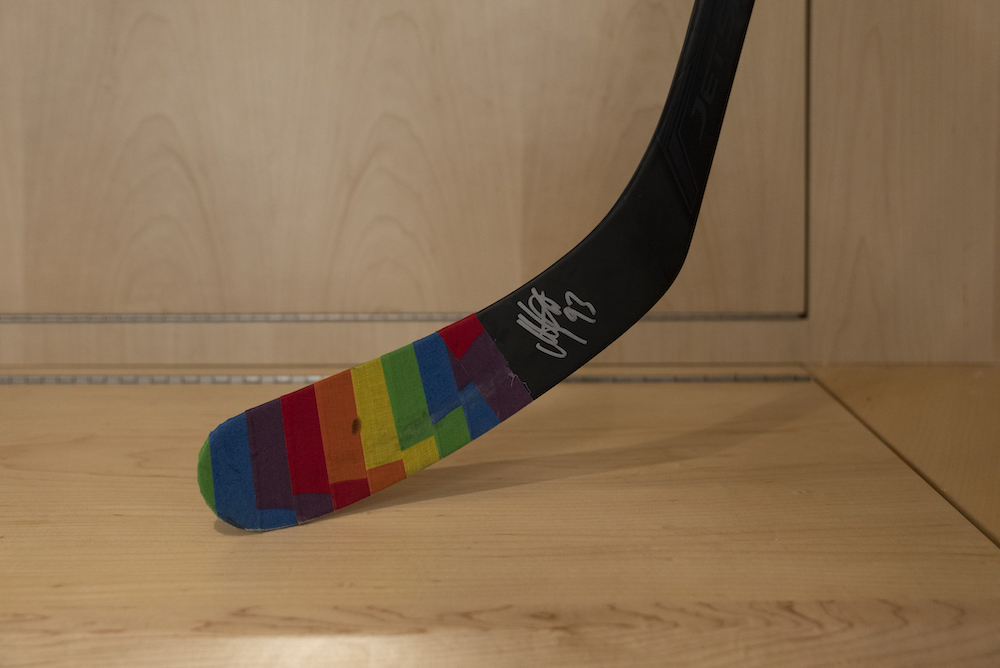 Autographed Pride Night Warm-Up Stick: #93 Mika Zibanejad - New York Rangers
