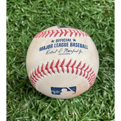 Photo of Game Used Baseball: Josh Fleming strikes out Ryan Mountcastle - Top 4 - June 13, 2021 v BAL