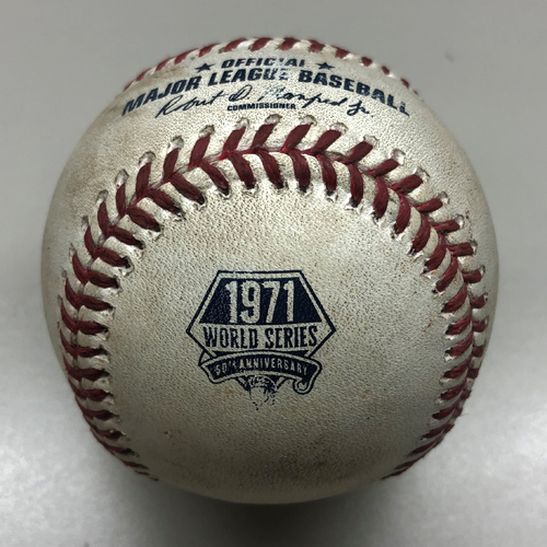 Photo of Game-Used Baseball: Pete Alonso - Single - 7/17/2021