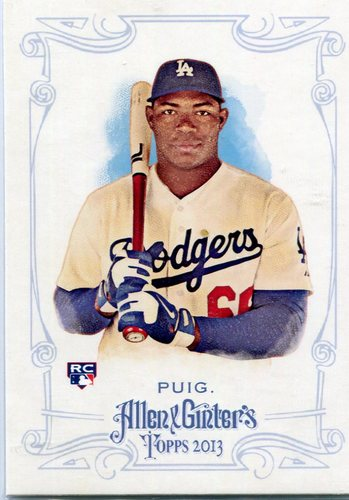 Photo of 2013 Topps Allen and Ginter #44 Yasiel Puig Rookie Card