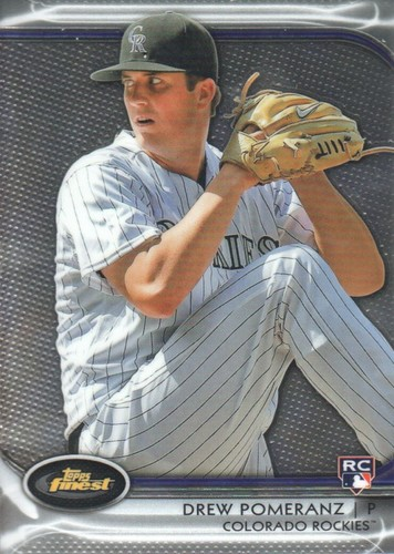 Photo of 2012 Finest #12 Drew Pomeranz Rookie Card -- Red Sox post-season