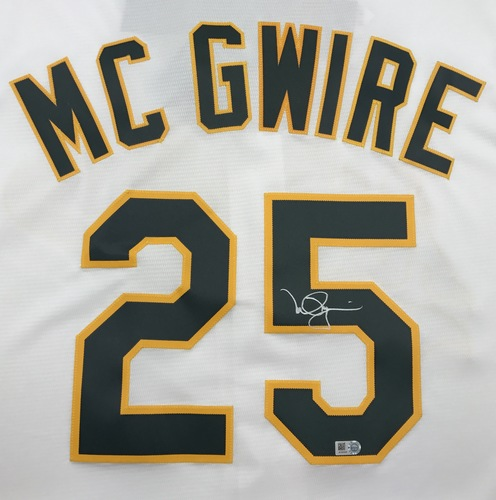 Photo of Mark McGwire Autographed White Athletics Jersey