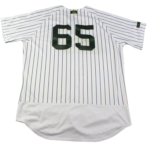 8835a2353 Jonathan Holder New York Yankees Game-Used  65 Memorial Day Weekend  Pinstripe Jersey (