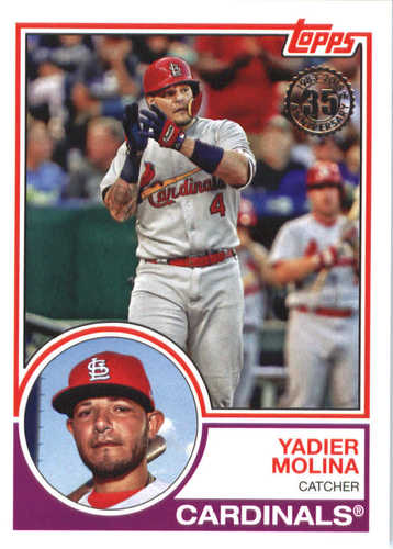 Photo of 2018 Topps '83 Topps #8342 Yadier Molina