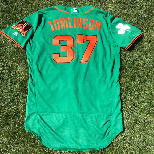 Photo of San Francisco Giants - 2018 St. Patrick's Day - Team Issued Jersey - Kelby Tomlinson