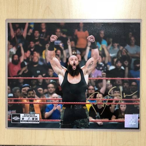 Photo of Braun Strowman SIGNED 8 x 10 Limited Edition WrestleMania Photo (#1 of 34)