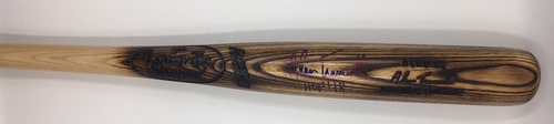 "Photo of Alan Trammell ""HOF 18"" Autographed Game Model Louisville Slugger Bat"