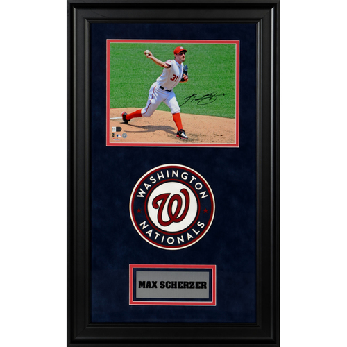 "Photo of Max Scherzer Washington Nationals Deluxe Framed Autographed 8"" x 10"" Photo"