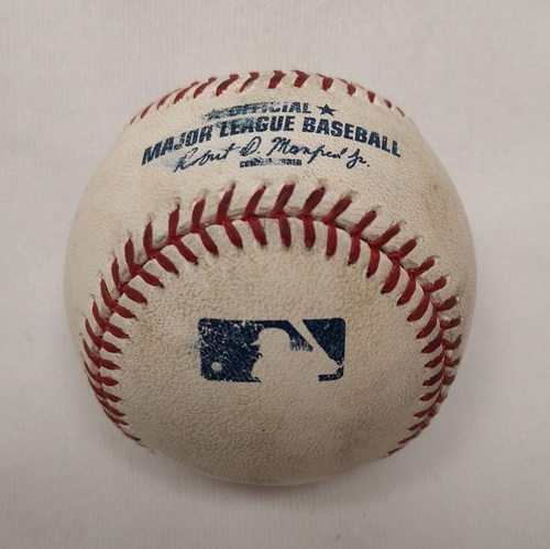 Photo of Authenticated Player Collected Baseball - Home Run (11) by Edwin Encarnacion against Felix Hernandez (May 22, 2015; Bottom 1).