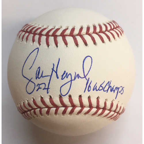 "Photo of Jason Heyward ""16 WSC"" Autographed Baseball"