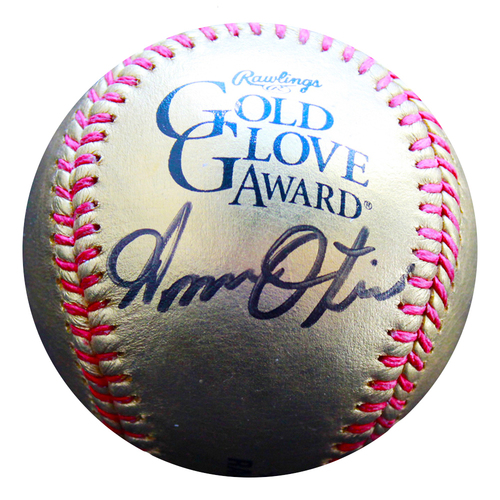 Photo of Autographed Golden Baseball: Amos Otis