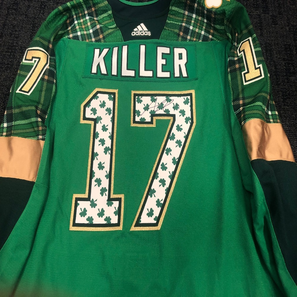 #17 Alex Killorn Tampa Bay Lightning Green Warm-Up Nickname Jersey