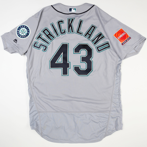 Photo of 2019 Japan Opening Day Series - Game Used Jersey - Hunter Strickland, Seattle Mariners at Oakland Athletics -3/21/2019