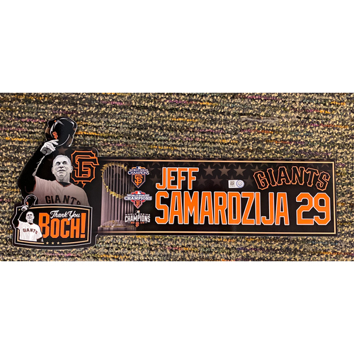 Photo of 2019 Game Used Thank You BOCH! Locker Tag - #29 Jeff Samardzija
