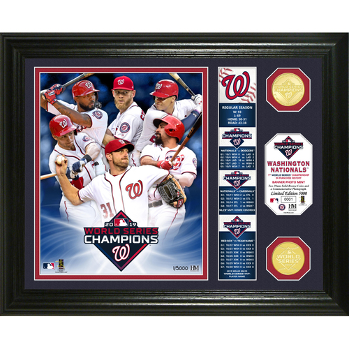 "Photo of Washington Nationals 2019 World Series Champions ""Banner"" Bronze Coin Photo Mint"