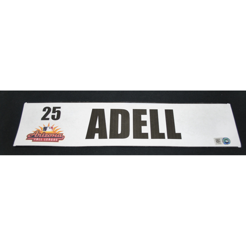 Photo of Arizona Fall League - Game-Used Locker Tag - Jo Adell (LAA), Jersey Number: 25