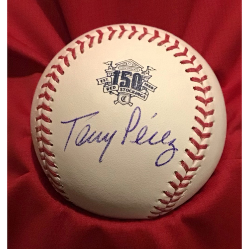 Photo of Tony Perez Autographed 150 Baseball