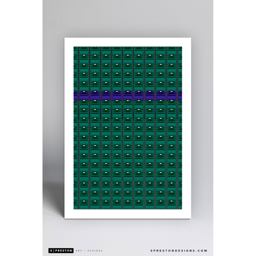 Photo of Coors Field - Minimalist Ballpark Art Print by S. Preston  - Colorado Rockies