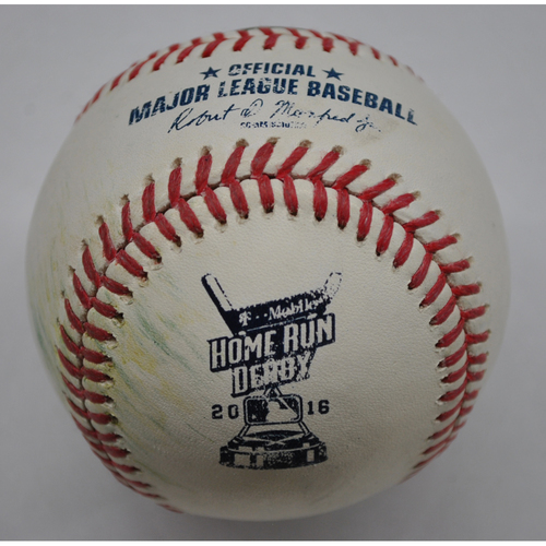 Photo of Game-Used Baseball - 2016 Home Run Derby - Carlos Gonzalez - Round One - Out
