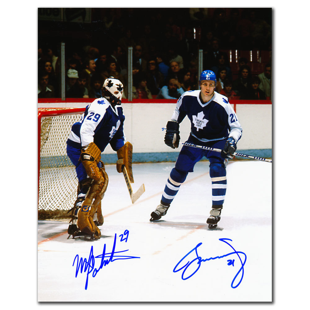 Mike Palmateer & Borje Salming Toronto Maple Leafs LEGENDS Dual Autographed 8x10