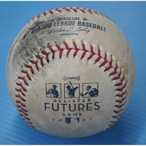 Photo of Game-Used Baseball - 2007 All-Star Futures Game - Pitcher: Carlos Carrasco, Batter: Brent Lillibridge - 2nd Inning - Foul to Back Stop