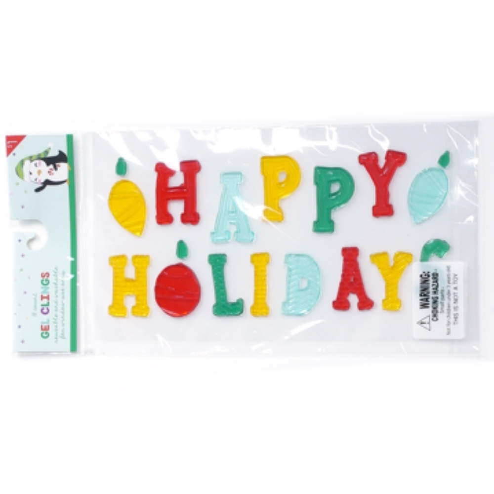 Photo of Impact Innovations Happy Holidays Gel Clings