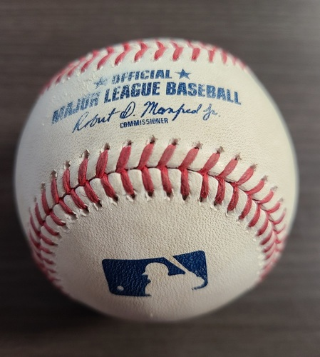 Photo of Authenticated Game Used Baseball: Foul by Chance Sisco against Taijuan Walker (Aug 29, 20 vs BAL). Top 4. Game played in Buffalo.