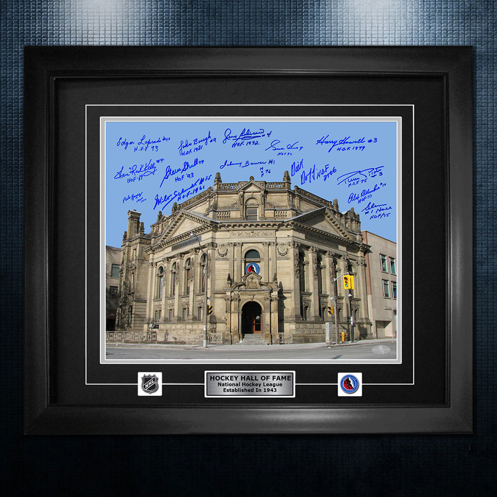 Hockey Hall Of Fame Building NHL Legends Autographed 26x32 Frame