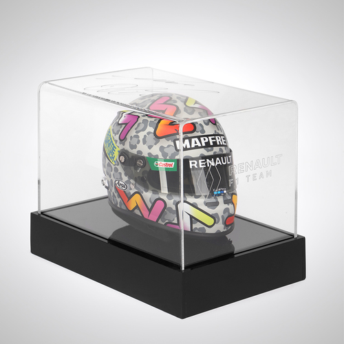 Photo of Daniel Ricciardo 2020 1:2 Scale Helmet with Signed Illuminated Case