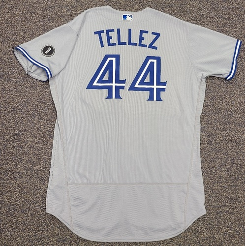 Photo of Authenticated Team Issued Jersey: #44 Rowdy Tellez (2020 Season). Set 2. Size 50.