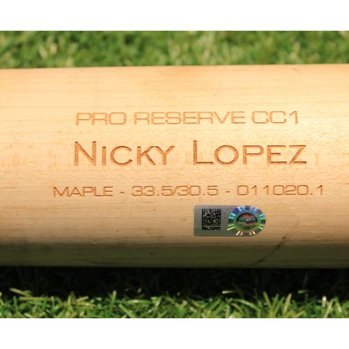 Photo of Team-Issued Broken Bat: Nicky Lopez