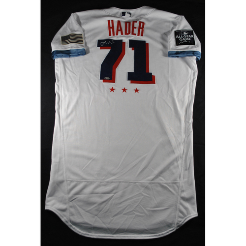 Photo of Josh Hader 2021 Major League Baseball All-Star Game Autographed Jersey