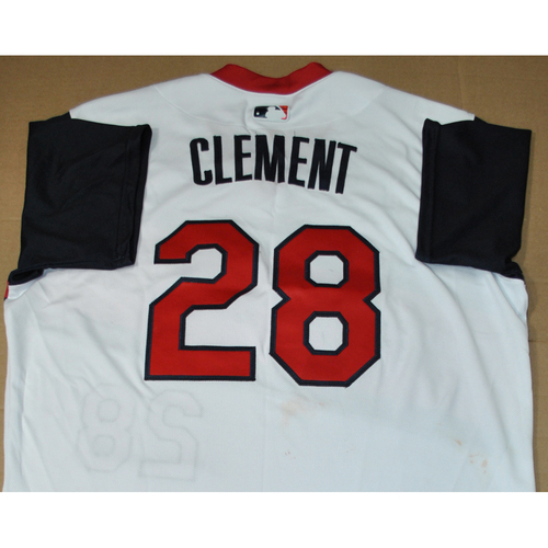 Photo of Game-used Jersey - 2021 Little League Classic - Los Angeles Angels vs. Cleveland Indians - 8/22/2021 - Great Lakes, Player Name: Ernie Clement #28