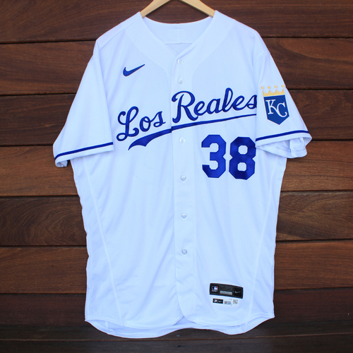 Photo of Game-Used Los Reales Jersey: Joel Payamps #38 (SEA@KC 9/17/21) - Size 46
