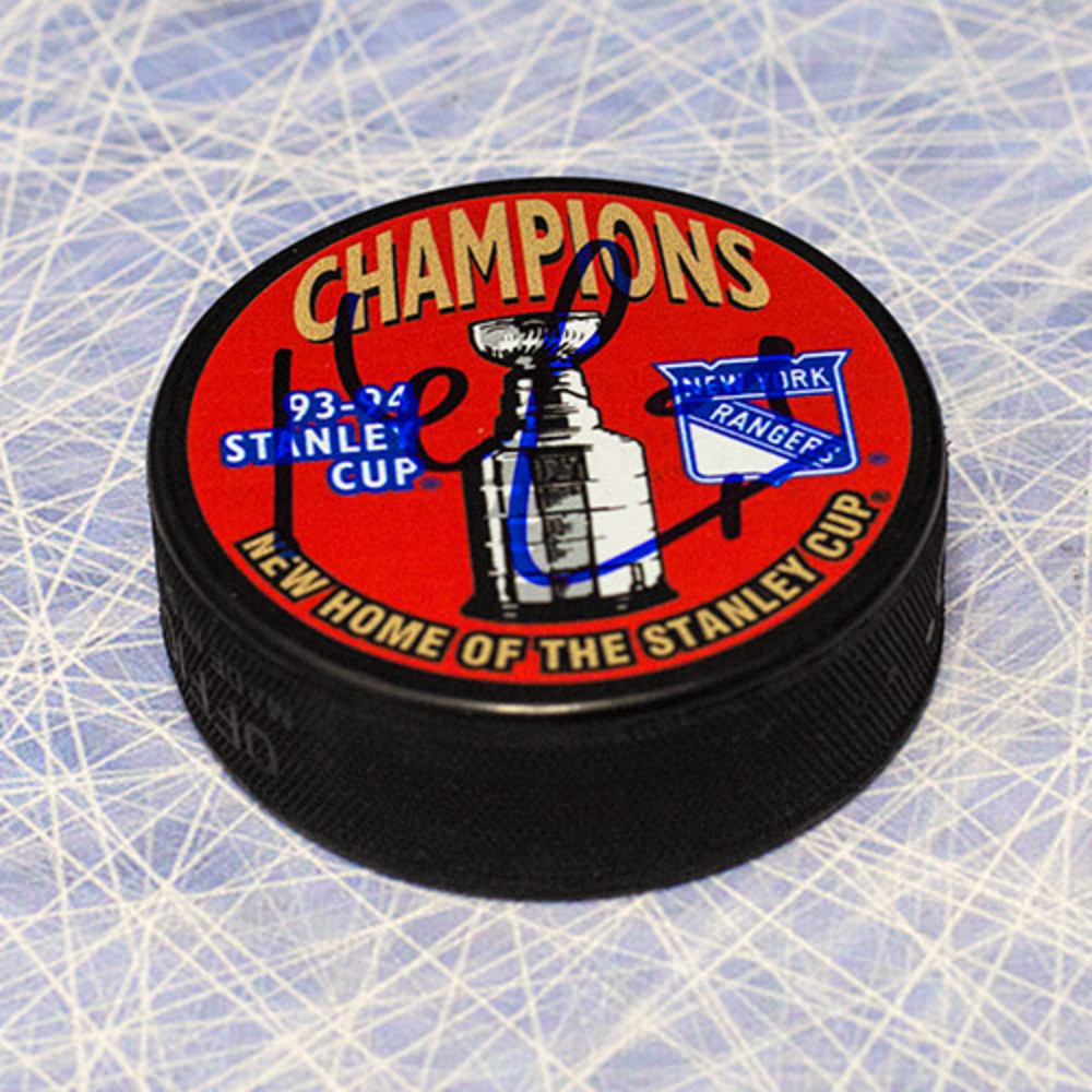 Kevin Lowe New York Rangers Autographed 1994 Stanley Cup Puck