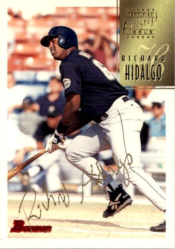 Photo of 1997 Bowman Certified Gold Ink Autographs #CA38 Richard Hidalgo