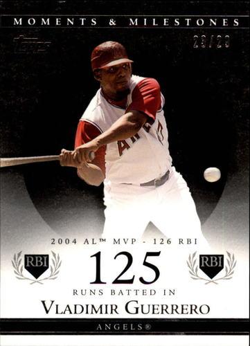 Photo of 2007 Topps Moments and Milestones Black #40-125 Vladimir Guerrero/RBI 125