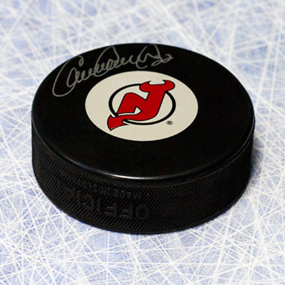Claude Lemieux New Jersey Devils Autographed Hockey Puck