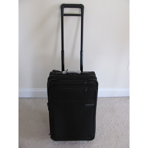 UMPS CARE AUCTION: Briggs and Riley Black Baseline Carry-on Bag