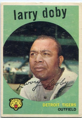 Photo of 1959 Topps #455 Larry Doby -- Hall of Fame Class of 1998