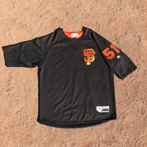 San Francisco Giants - 2017 Game-Used Batting Practice Jersey Worn by #51 Mac Williamson (Size: XL)